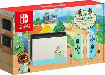 Nintendo Switch HAC-001(-01) Animal Crossing: New Horizon w/Free Fedex Shipping!