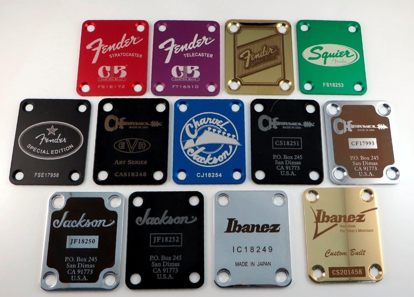 Купить Unbranded - Custom Engraved Guitar Neck Plate - Choose Design, Color and Serial Number