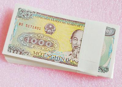 Vietnam 1000 Dong Banknote papermoney Full Bundle 100PCS 1988P106  UNC  Lot Pack