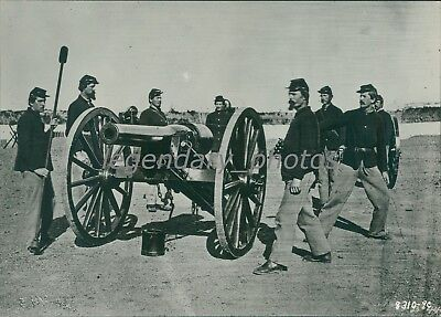 Type of Artillery Used in Civil War 1862 Original News Service Photo - Type Of Service