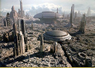 """Star Wars Coruscant Canvas 24""""x18"""