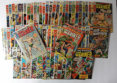 Sub Mariner Complete Set #1-72 Low to Higher Grades 1968-74 Nice!!