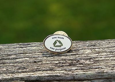 Albertsons Grocery One Team One Purpose Metal Enamel Employee Lapel Pin Pinback