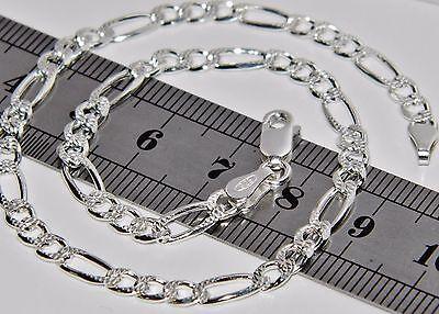 925 Sterling Silver Ladies Solid Figaro Curb Anklet / Ankle Bracelet - 10 inch