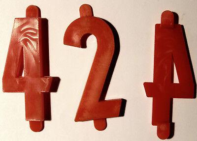25 Preisziffern - Ziffern - Zahlen, Kunststoff rot, 42 mm