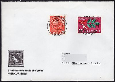 Switzerland: Stamp Collectors Society Cover with 1960s Publicity & Europa stamp