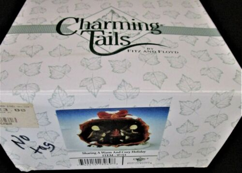 Fitz & Floyd - Charming Tails - Sharing A Warm And Cozy Holiday #97/13 - MIB!