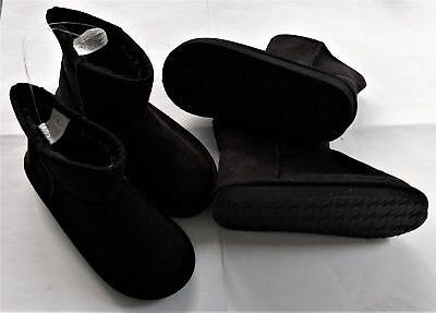 Stiefel Kinder Schwarz (Mädchen Boots schwarz Stiefel Kinderschuhe gefüttert Größe 33 34 35 36)
