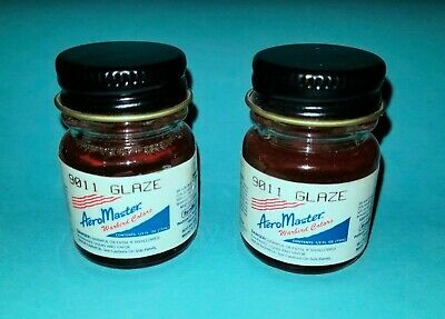 Aeromaster Floquil 9011 Glaze 1/2 oz. lot of 2 bottles