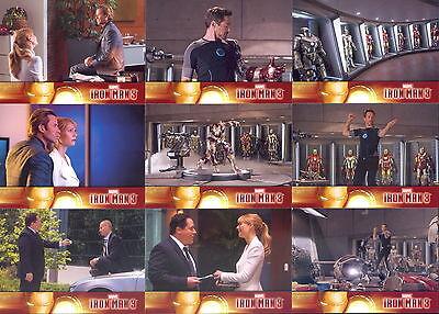 IRON MAN MOVIE 3 2013 UPPER DECK COMPLETE BASE CARD SET OF 60 MARVEL COMICS