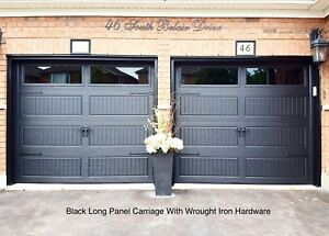 Awesome 8x7 INSULATED BLACK GARAGE DOORS.......... $1000