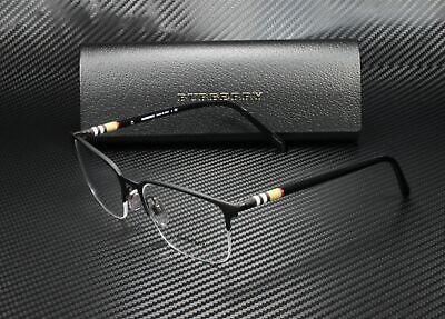 BURBERRY BE1323 1213 Black Rubber Demo Lens 54 mm Men's (Burberry Eyeglasses Men)