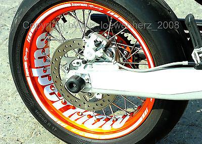 Aufkleber Felgenaufkleber Supermoto Felgen KTM SMC 690 LC4 660 625 SMR EXC 450 R