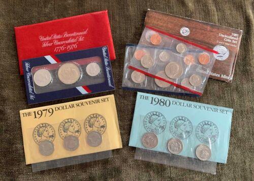 Variety Lot of US Mint Uncirculated Sets & Dollar Souvenir Sets - Free Ship US
