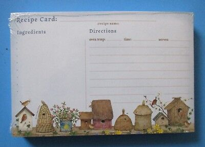 Beeskeps pack 50 RECIPE CARDS Legacy birdhouse kitchen organize bridal shower - Bridal Shower Recipe Cards