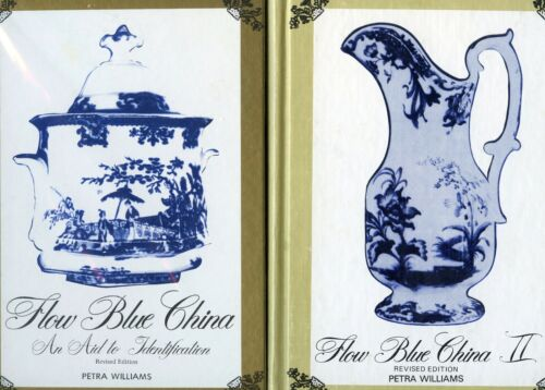 Flow Blue China Identification - Patterns Makers / Scarce Two-Volume Book Set