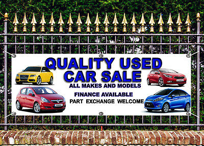 OUTDOOR PVC  USED CAR  SALE BANNER GARAGE SIGN ADVERT FREE ART WORK READY DSPLY