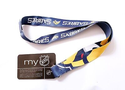 BUFFALO SABRES LANYARD WITH CLIP NHL AND WITH MULTI LOGOS - NWT