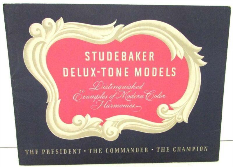 1940 Studebaker President Commander Champion Delux-Tone Sales Brochure Portfolio