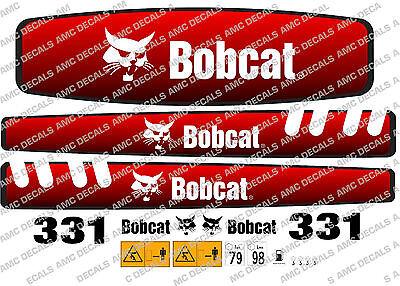 Bobcat 331 Mini Digger Decal Set