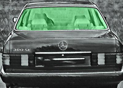 AUSVERKAUFT Mercedes S-Klasse W126 Heckscheibe Limousine 80-91 heiz VB-Glas grün