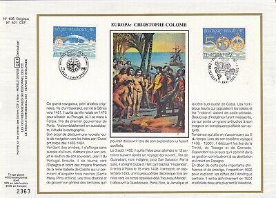 Belgique 1992 2454-55 FDC soie Europa Christophe Colomb Amérique Phare