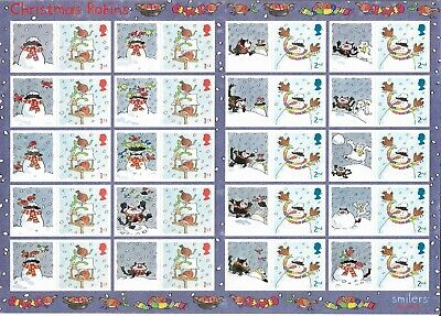 2005 Christmas Robins - Full Smilers Sheet - Mint and Never Hinged.
