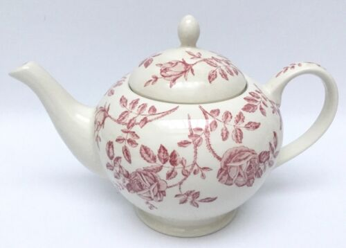 Churchill Queens ANTIQUE ROSE Pink Teapot Floral Chintz England 5 Cups