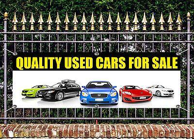 OUTDOOR PVC QUALITY USED CAR  SALE  BANNER GARAGE SIGN ADVERT FREE ART WORK