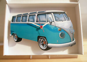 VW-Camper-Van-Wall-Clock-VW-Split-Screen-clock-VW-Bug-VW-Beetle-VW-Van-clock