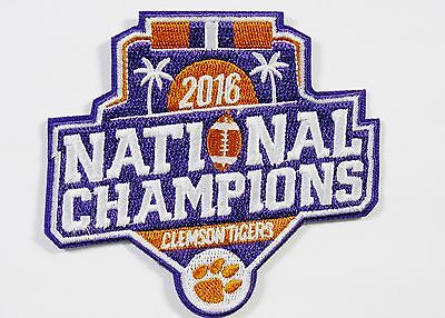 LOT OF (1) NCAA 2016 FOOTBALL NATIONAL CHAMPIONS CLEMSON TIGERS PATCH ITEM - Football Items