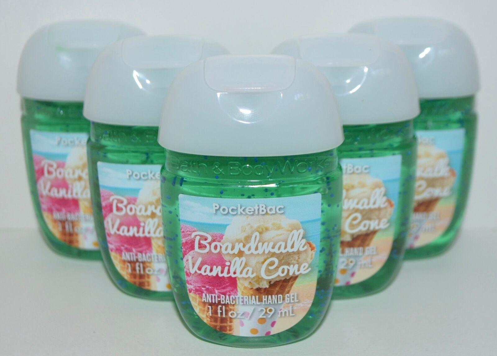 5 BATH & BODY WORKS BOARDWALK VANILLA CONE POCKETBAC ANTI BA