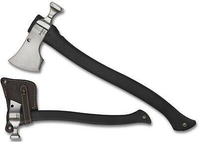 SPYDERCO Genzow Hatchet Hawk Tomahawk Polypropylene Handle W/ Leather Sheath H02