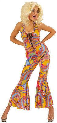 70er Jahre Funky Girl Kostüm NEU - Damen Karneval Fasching Verkleidung - Funky Kostüm