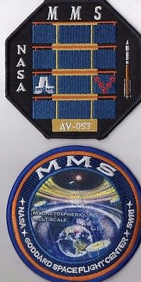 Original USAF NASA Atlas V ULA MMS Satellite Mission Launch Patch Set - 2pcs.