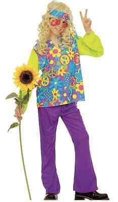 WIM 38176 Kinder Jungen Karneval Fasching Kostüm Hippie 60er 70er Flower Power  (Kinder Jungen Hippie Kostüme)