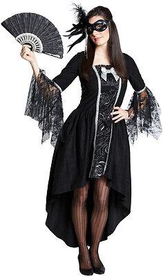 Edles Maskenball Kostüm für Damen NEU - Damen Karneval Fasching Verkleidung (Kostüm Für Maskenball)