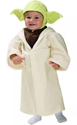 NEW Yoda Star Wars Child Toddler Costume Hooded Robe Headpiece Size 3T-4T Outfit