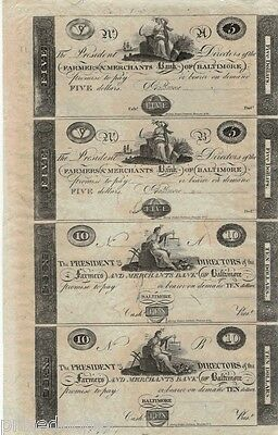 Farmers And Merchants Bank Of Baltimore  5  5  10  10   Uncirculated