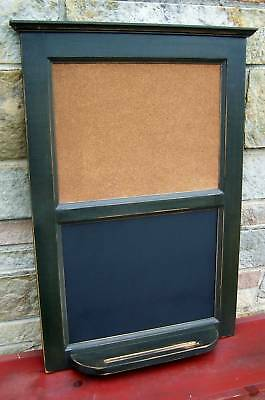PRIMITIVE COUNTRY COTTAGE DISTRESSED BLACK FINE MESSAGE BOARD VT
