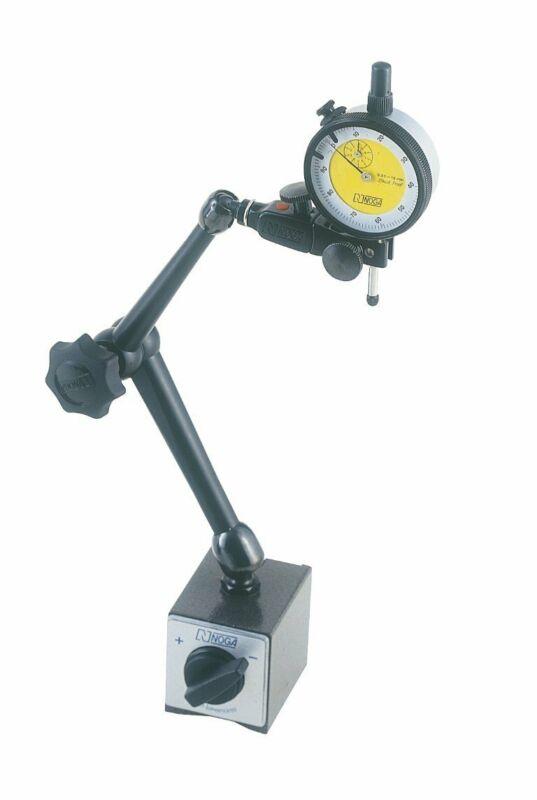 Noga DG6150 | Combo DG61003 Magnetic Base 176lb Hold & mm Dial Indicator Set