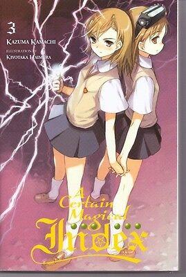 ++ A Certain Magical Index 3 Manga Novel englisch TOP!! (9780316340540) ++
