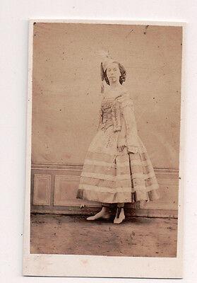 Vintage, Französischer Schauspielerin Kostüm Modischer Gilbert Freres Foto