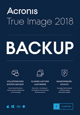 Acronis True Image 2018 1-PC / 2019* Dauerlizenz / Datensicherung/HDD-Copy / KEY ()