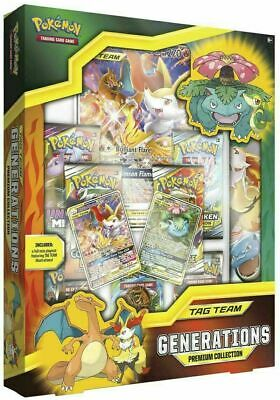 Pokemon TCG Tag Team Generations Premium Collection Box GX CHARIZARD VENUSAUR