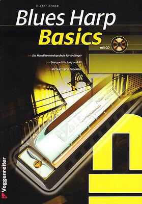Dieter Kropp Blues Harp Basics Schule für Mundharmonika Noten mit CD
