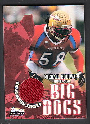 Michael Boulware 2004 Topps DPP Big Dogs Senior Bowl Game Worn Jersey Card