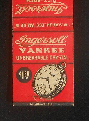 1930s Ingersoll Yankee Unbreakable Crystal Pocket Watch Rist-Arch Jeweled Watch