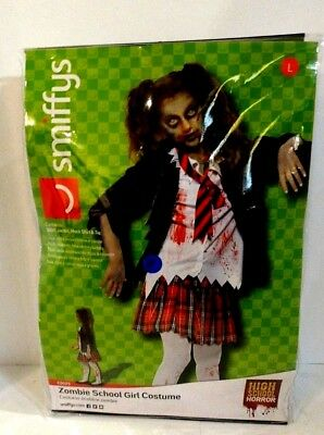 Zombie School Girl Halloween Costume Size L Age 10-12 - Costume School Girl