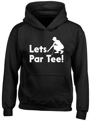 Lets Par Tee Golf Boys Girls Kids Childrens Hoodie ()
